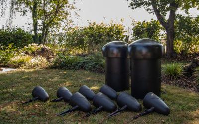 SLS Gartenlautsprecher-System von Sonance – Einbau im mediacraft Lautsprecher-Demogarten