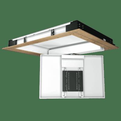 CHRS - Display Deckenklappe mit Drehgelenk, offen, gedreht
