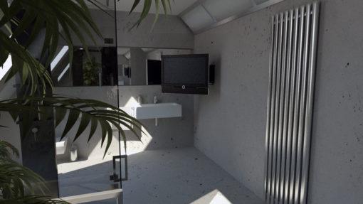 FSE90 - Display Wandhalterung motorisiert, ausgefahren