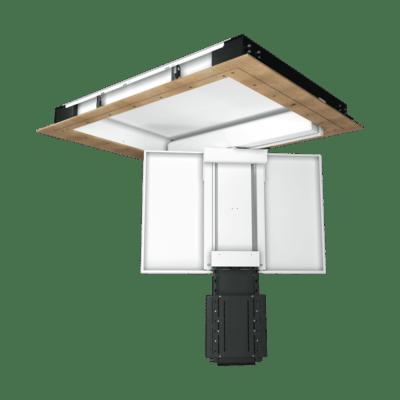 CHRST - Deckenklappe mit Teleskop für Displays